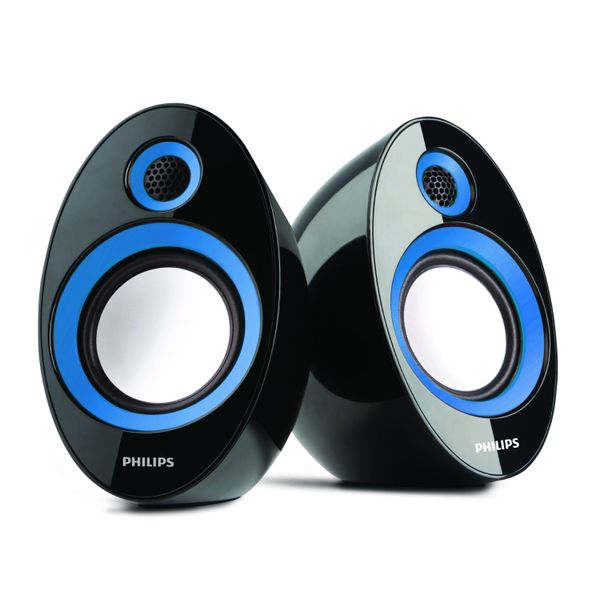 Philips SPA-60 2.0 Speaker System (Blue) (Unboxed)