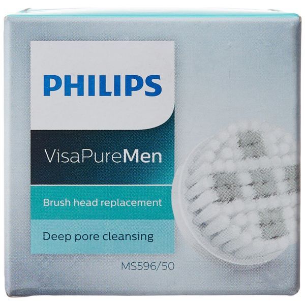 Philips Visa Pure MS596/50 Men Brush Head Replacement for Deep Pore (Gray/White) (Unboxed)