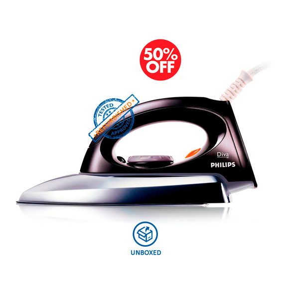 Philips GC85 750 Watts Dry Iron (Metal with Black) (Unboxed)