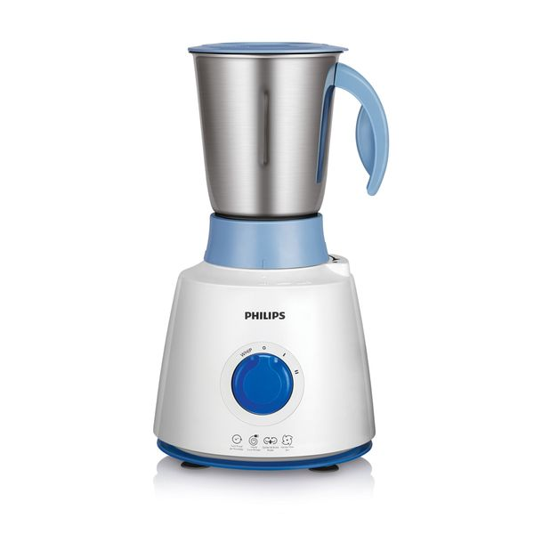 Philips HL7610/04 500 W Mixer Grinder  (White and Blue, 3 Jars) (Unboxed)