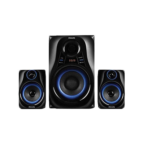 Philips MMS2580B Blue Dhoom 2.1 Bluetooth Speakers - Black