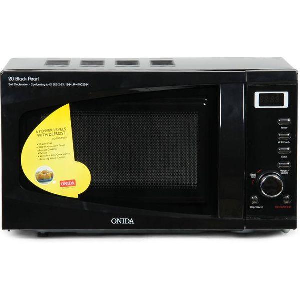 Onida 20 L Grill Microwave Oven  (MO20GJP22B, Black Pearl)
