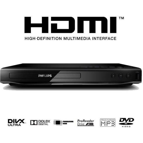 Philips DVP2880/94 DVD Player  (Black) (Unboxed)
