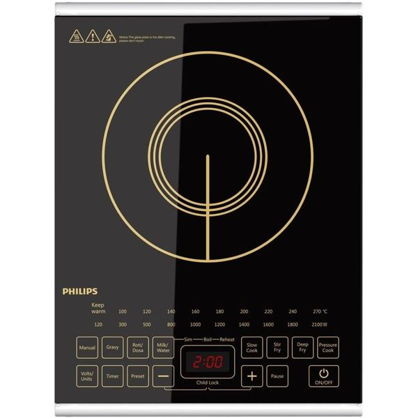 Philips HD4938/01 Induction Cooktop  (Black, Touch Panel)