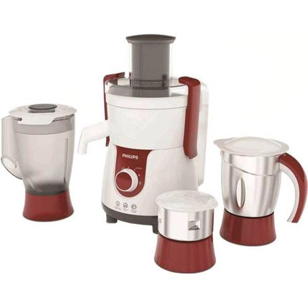 Philips HL7715/00 700 W Juicer Mixer Grinder  (Red, 3 Jars)