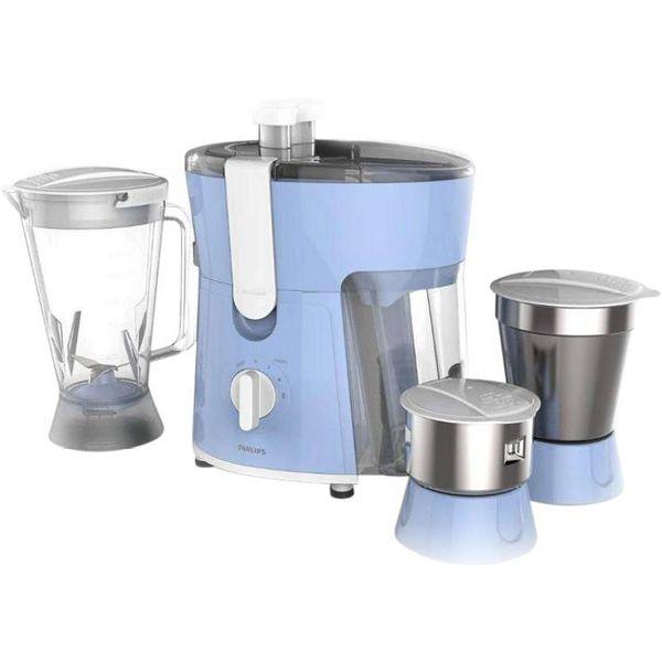 Philips HL7576/00 600 W Juicer Mixer Grinder  (Celestial Blue & Bright White, 3 Jars)