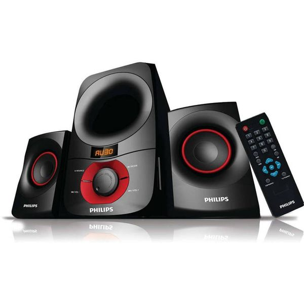 Philips IN-MMS6060F/94 Laptop/Desktop Speaker  (Black, 2.1 Channel)