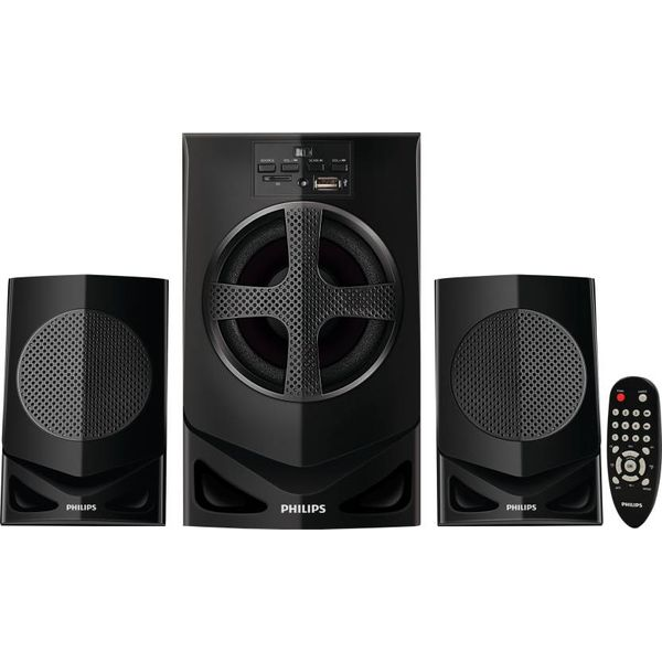 Philips MMS2030F/94 Home Audio Speaker  (Black, 2.1 Channel) (Unboxed)