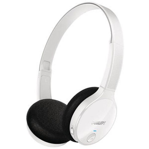 Philips SHB4000WT/00 Wireless Headset with Mic  (White, On the Ear)