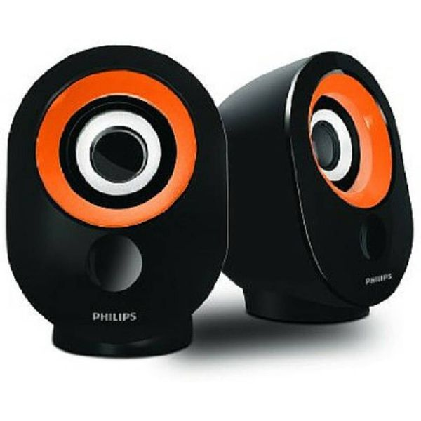 Philips IN-SPA50G/94 Laptop/Desktop Speaker  (Orange, 2.0 Channel)
