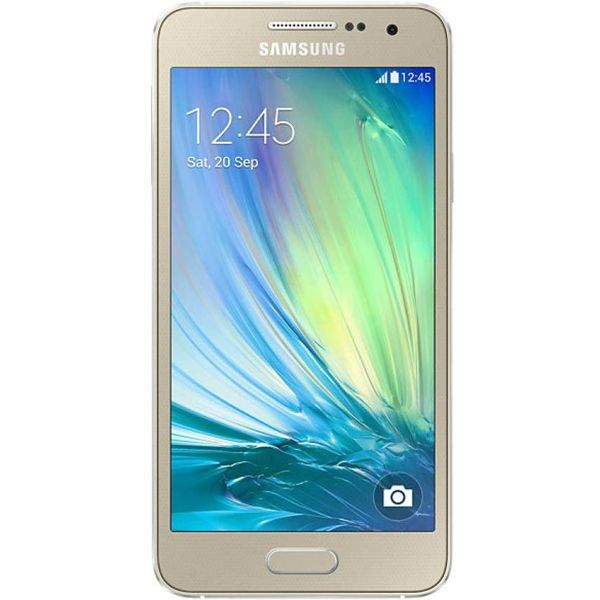 Samsung Galaxy A3 (Gold, 16GB) (Unboxed)