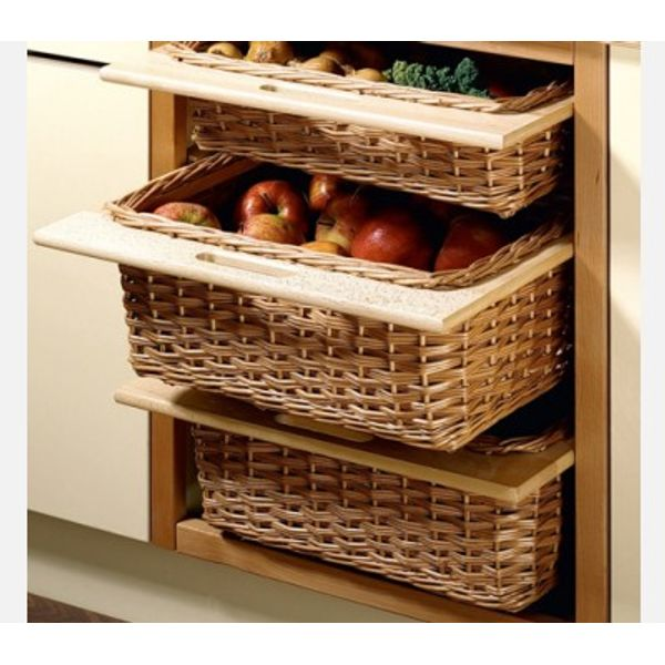 Kitchen Cabinet Baskets: Hettich Wicker Baskets With Wooden Frame 420 X 500 X 120