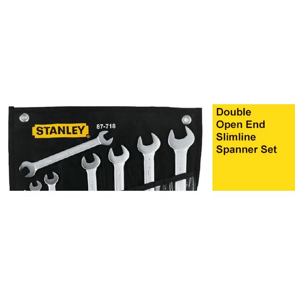 Stanley 87-712, Double Open End Slimline Spanner Set