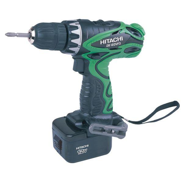Hitachi Cordless Driver Drill,DS12DVF3, 1.60 Kg, 12.00 v