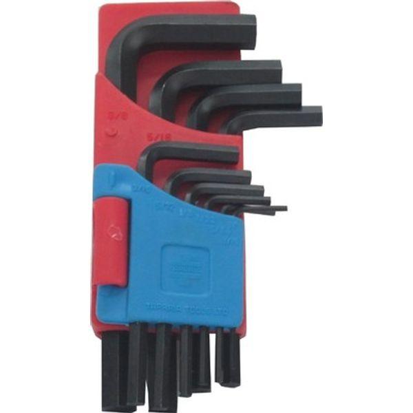 Taparia,  Allen Keys Set(Inch Sizes) Black Finish Hanger Packing, KHI 10V