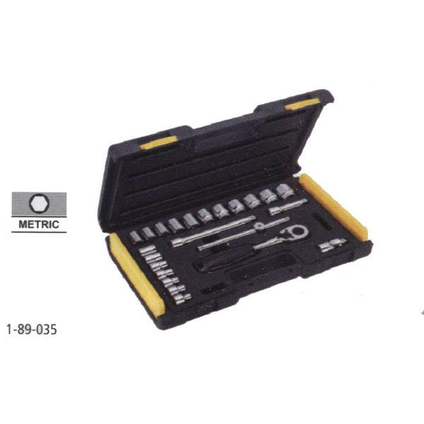 STANLEY 24 Pcs 3/8 Drive Metric Socket set,19pc 3/8