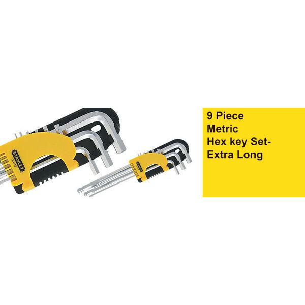 Stanley,Metric Hex key Set - Extra Long