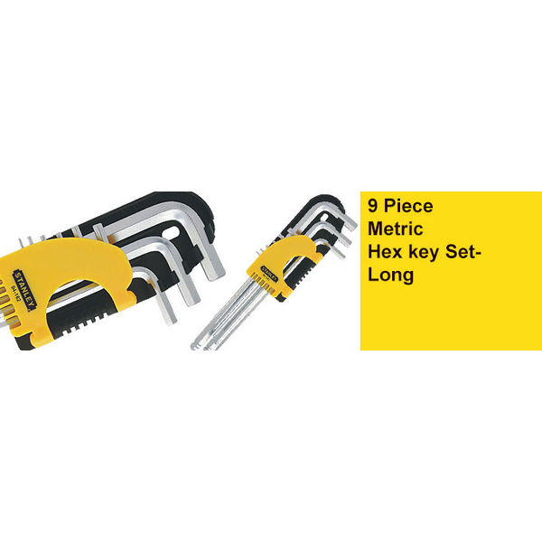 Stanley,Metric Hex key Set - Long