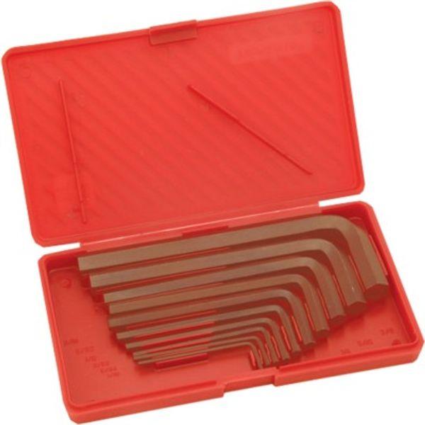 Taparia,  Allen Keys Set(Inch Sizes) Brown Finish Box Packing, AKI 10