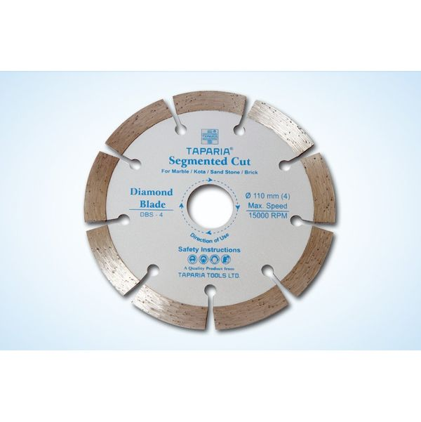 Taparia Diamond Cutting Blade Turbo Cut,Size: 110mm, DBT-4,