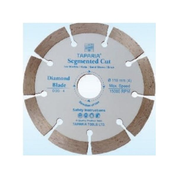Taparia Diamond Cutting Blade Continuous Cut,Size: 110mm, DBC-4,