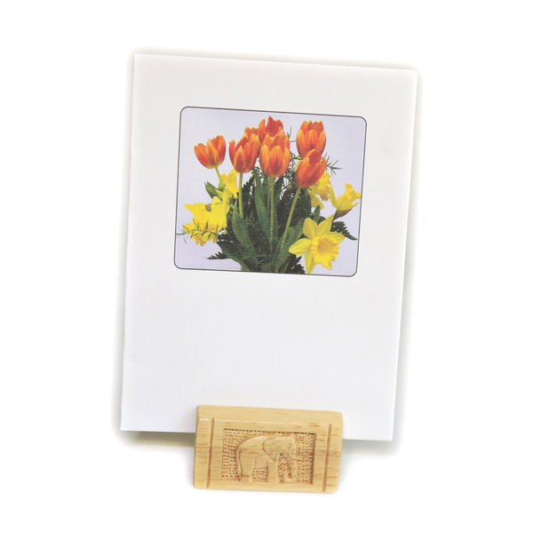 Handcrafted Wooden Photo Holder With Beautiful Designs, Medium