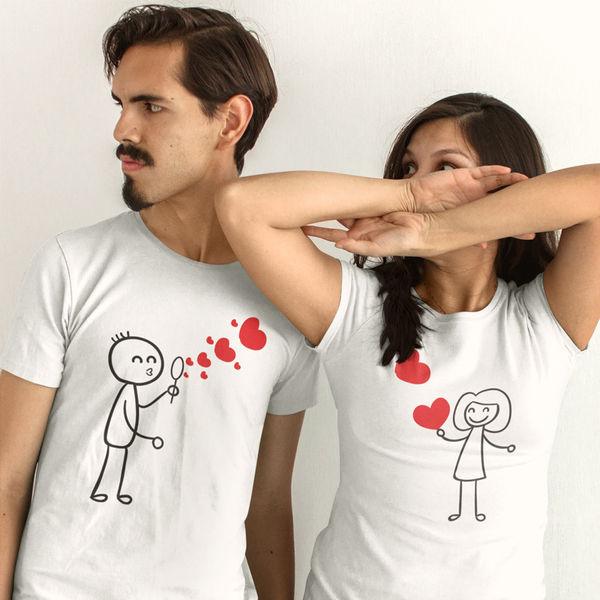 54fa8fa746 Couple t shirts | 100% Cotton | Love Bubble| iberry's