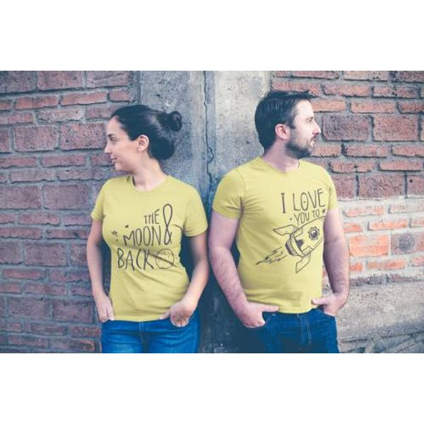e18728ec2d Couple t shirts | 100% Cotton | Love you to moon & back | iberry's