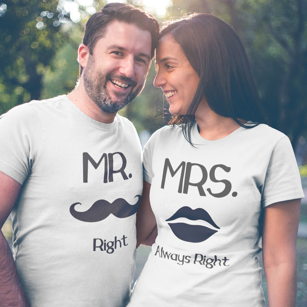 88cb804d5 Couple t shirts   100% Cotton   Mr & Mrs   iberry's
