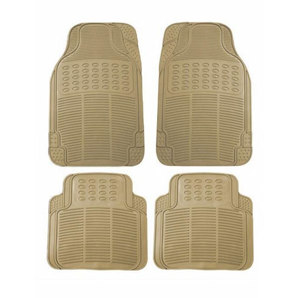 Buy Speedwav Rubber Car Floor Foot Mats Beige Online At