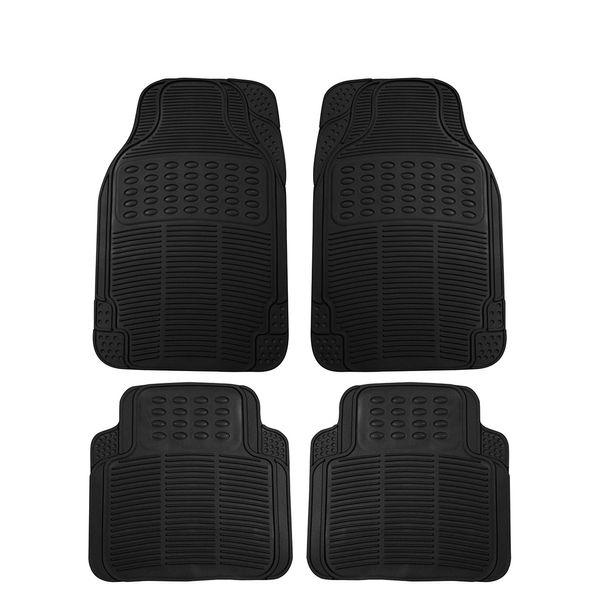 Buy Speedwav Rubber Car Floor Foot Mats Black Online At Low Price Tvs Accessories