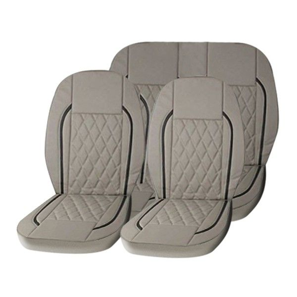 Buy speedwav beige b2 leatherette car seat cover online at - Car seat covers for tan interior ...