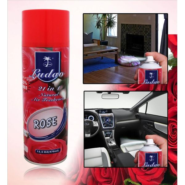 buy ludao car air freshener perfume spray 470 ml rose online at low price tvs accessories. Black Bedroom Furniture Sets. Home Design Ideas