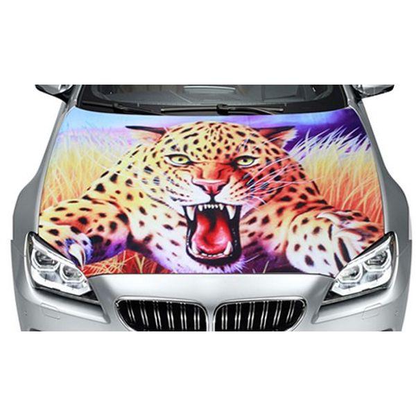 Buy Speedwav Car Hood Bonnet Vinyl Decal Jumping Leopard