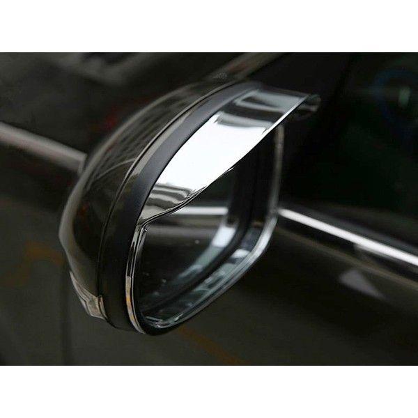Buy Galio Car Side Mirror Rain Guard Visors Chrome Set Of