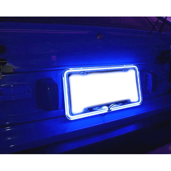 Speedwav Car Styling License Plate Frame Neon Light Blue. U2039 U203a
