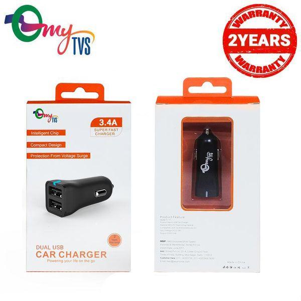 buy mytvs ti 11 3 4 amp 2 port usb car mobile charger black at best price tvs accessories. Black Bedroom Furniture Sets. Home Design Ideas