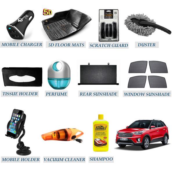 Accedre Car 11-in-1 Hyundai Creta Accessories Package