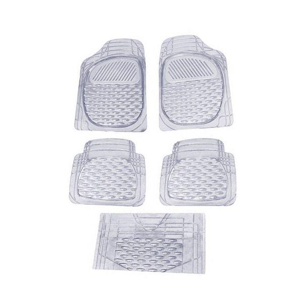 Buy Speedwav Set Of 5 Premium Transparent White Car Floor