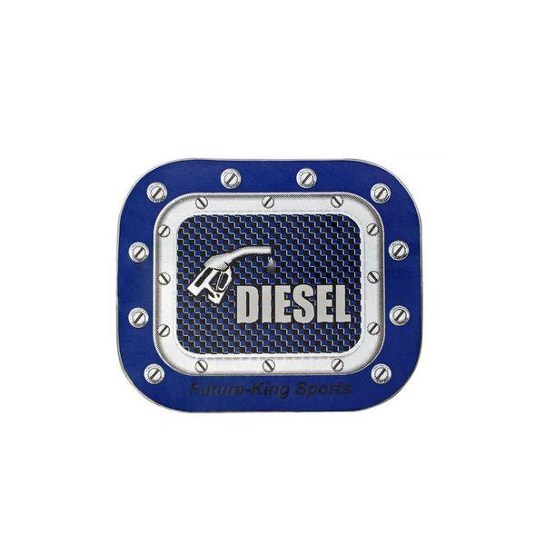 Buy Speedwav Car Fuel Lid Vinyl Diesel Sticker Blue-SQUARE