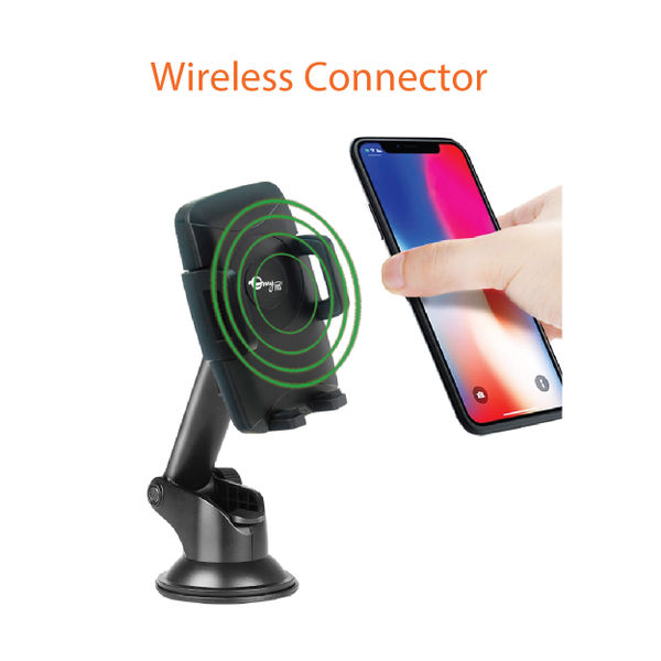 7744e011f myTVS TWC-82 Designer Car Dashboard   Wind Screen Wireless Charging Mobile  Phone Holder-. ‹