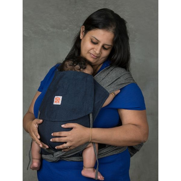 e0f28e97377 Buy Meh Dai Denim Baby Carrier for front and back carries from birth ...