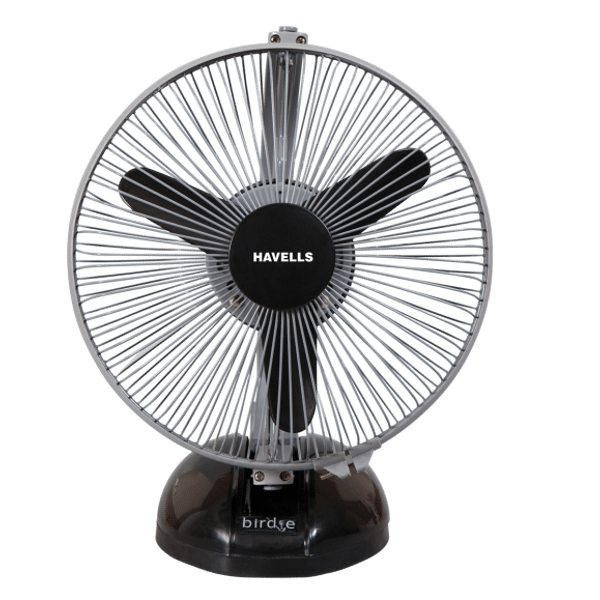 Havells Birdie 230mm Personal Fan (Black and Gray)