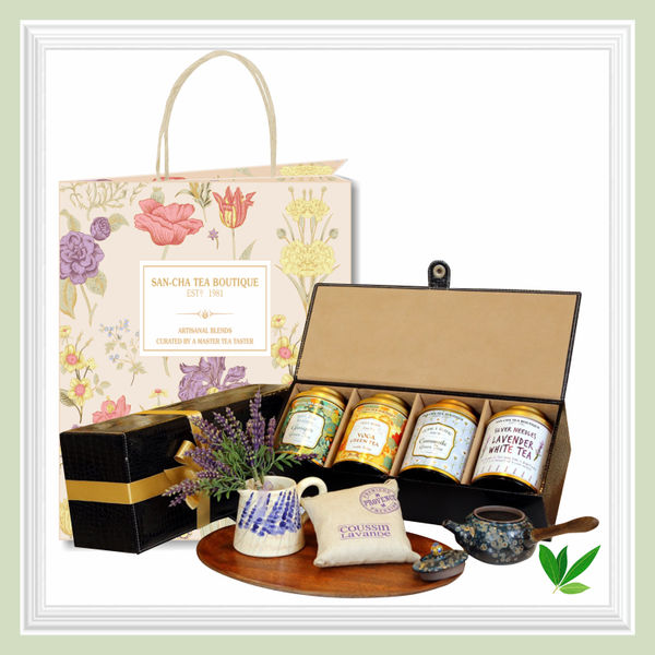 Luxury Leather Chest|Tea Gift Box|Sancha Tea