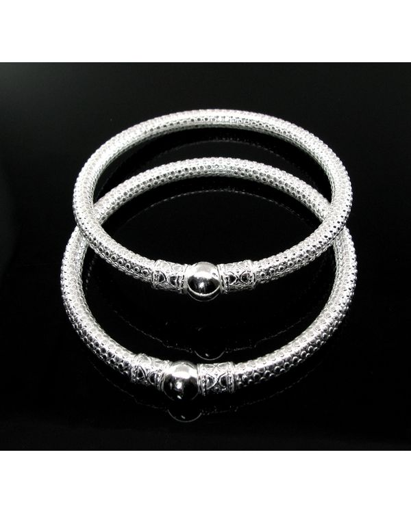 Traditional Indian Style Interior Design: Traditional Indian Style Silver Bangles Hollow Bracelet