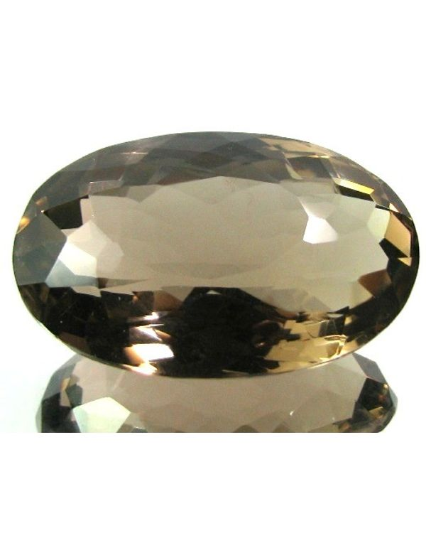 extra large size 126ct natural smoky quartz crystal oval