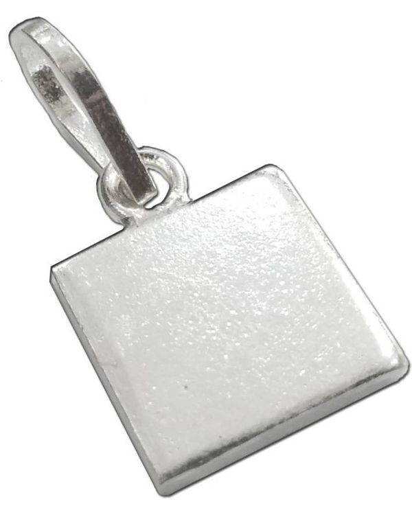 Silver pendant pure solid silver square piece chokor pendant lal kitab astrology remedy mozeypictures Choice Image