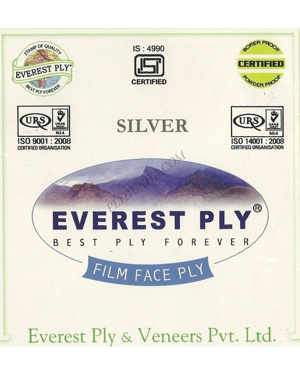 Everest Shuttering (Film Faced) Plywood - Silver (30Kg) Thickness 12 Mm Shuttering