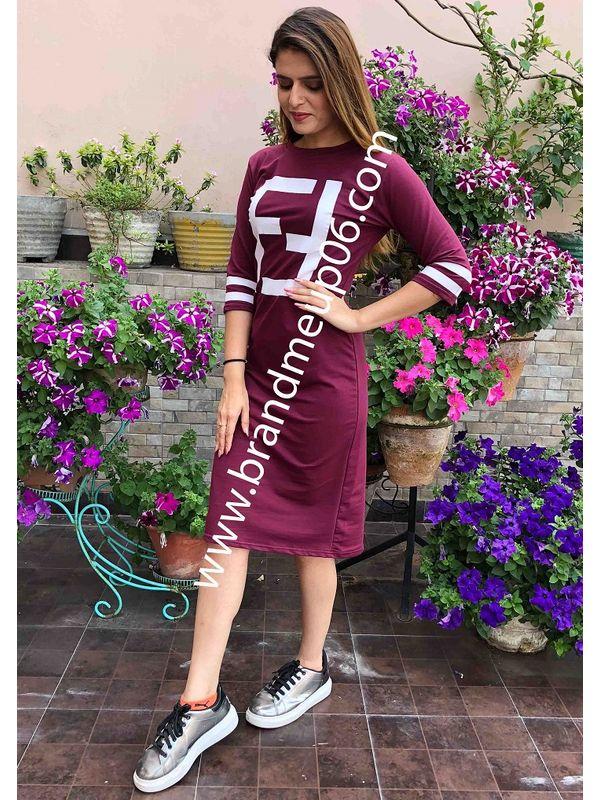 3084293c640e T-Shirt Dress - Wine