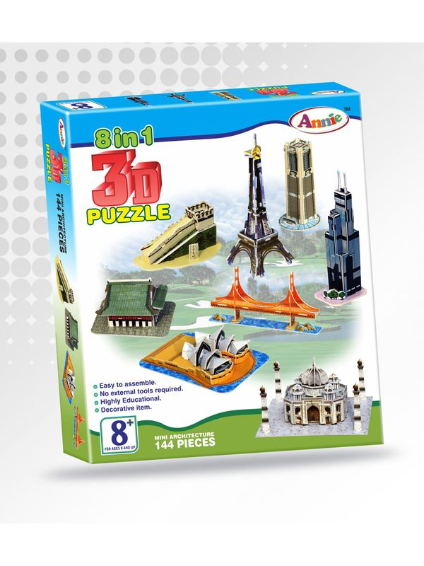 Annie 3 d puzzle do it yourself 8 in 1 monuments puzzle game solutioingenieria Choice Image